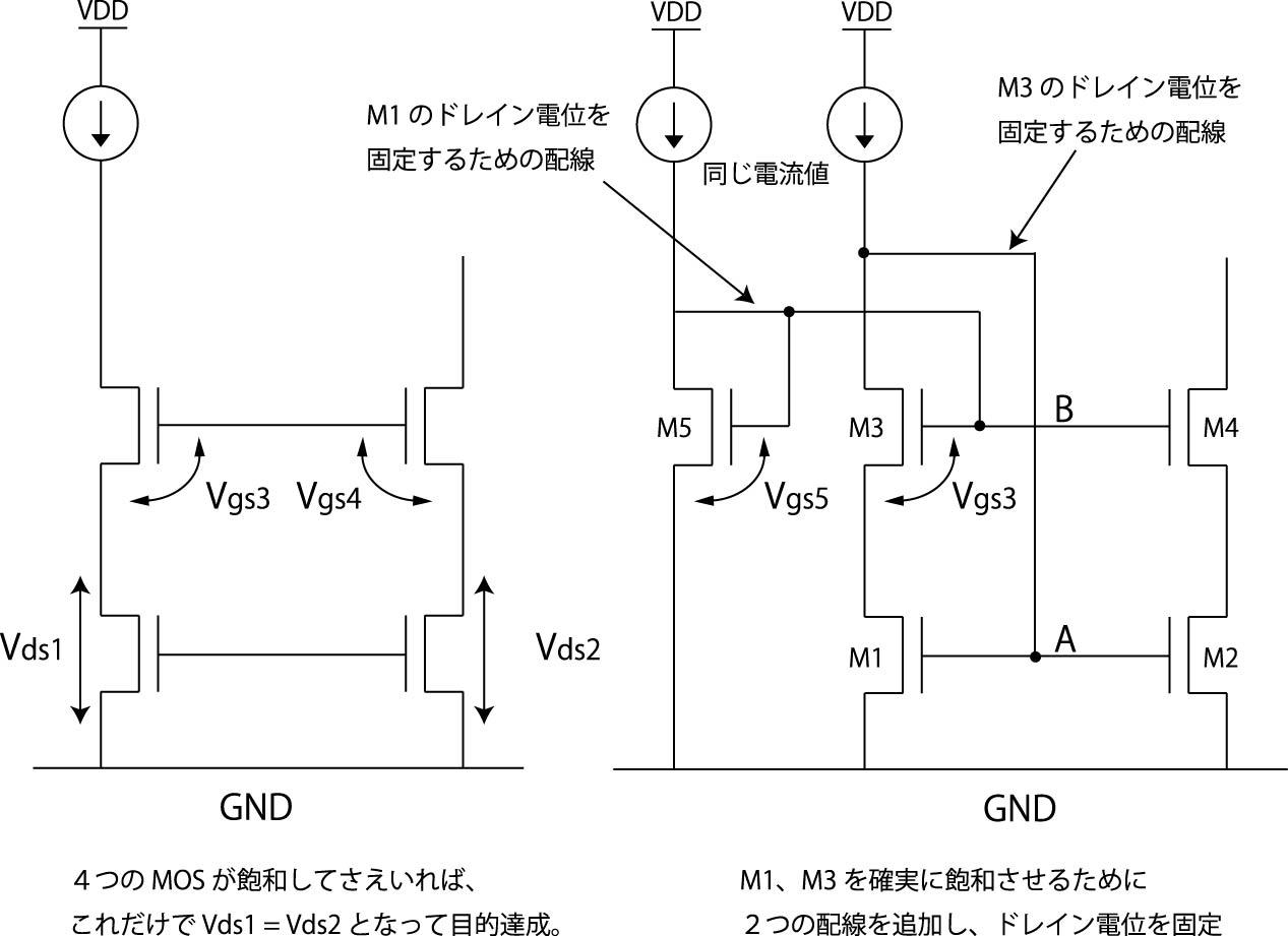 ミラー 回路 カレント